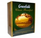 Чай черный Greenfield Classic Breakfast пакетированный 100 пакетиков в упаковке