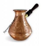 Турка Восточная красавица медная со съемной ручкой, 400 мл